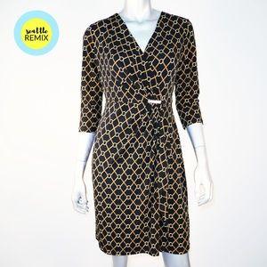 charter club ∙ horsebit link faux wrap dress